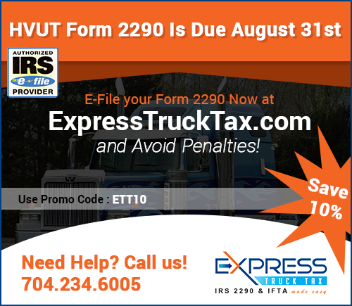 E-File Tax 2290 | IRS Heavy Highway Vehicle Use Tax Form 2290
